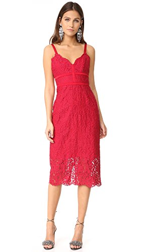 Keepsake vrouwen dezelfde liefde kant jurk lippenstift rode maat S