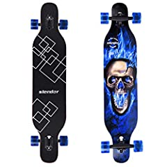 ✅ 42 X 9 Inch Longborads Skateboards, drop through camber deck offers super flex and shock absorber. ✅ Cold press 9 ply natural hardrock maple and epoxy glue, healthy materials bring more fun, and is better for environment. ✅ ABEC-9 high speed chrome...