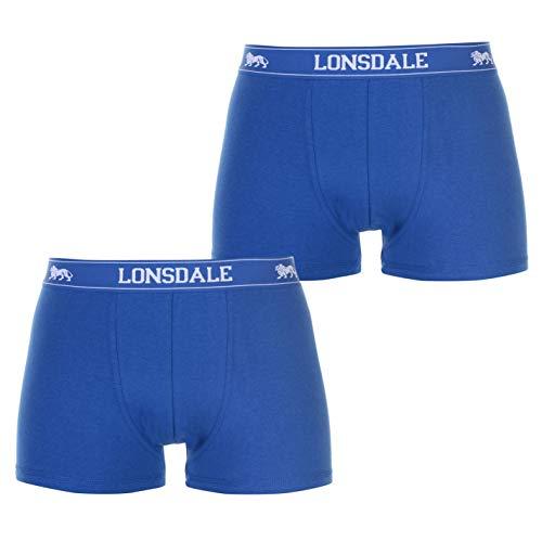 Lonsdale Herren 2 Stück Trunks Unterhose Blau XL