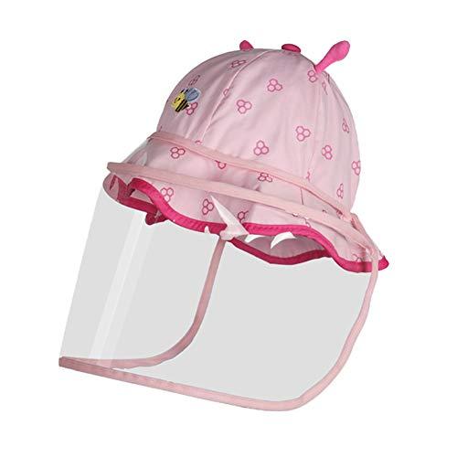 Kinderen Speeksel Splash Protection-muts voor baby Protection Gezicht Shield mannen en vrouwen van de baby stofdicht Ademende Sunscreen Cap