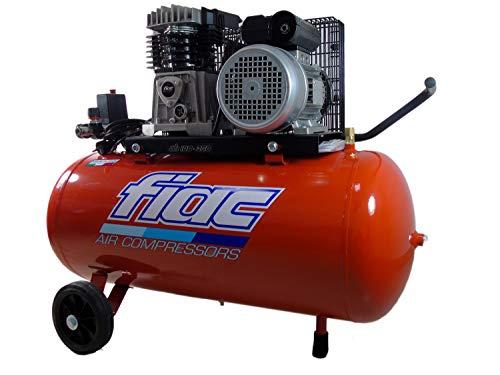 Compressore d'aria 100 Lt Fiac AB 100-360 M trasmissione a cinghia 2,2 Kw di potenza carrellato