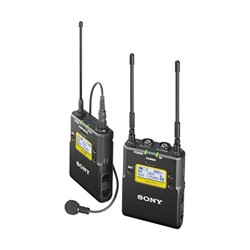 Sony UWP-D11 Integrated Digital Wireless Lavalier Microphone Package, Includes UTX-B03 Bodypack Transmitter, URX-P03 Receiver, UHF Channels 25/36: 536 to 608MHz,Black