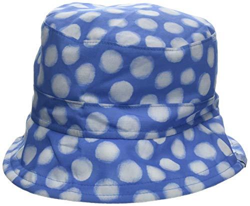 maximo Mädchen Hut, breite Krempe Mütze, Mehrfarbig (Blaues Azur-Weiß-Punkte 40), 51