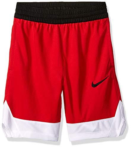 Nike Boy's Icon Basketball Shorts, Boy's Athletic Shorts with Side Pockets, University Red/White/Black, M