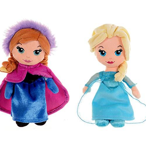 Posh Paws Disney Frozen Anna & ELSA 20cm Stofftier (2 Puppe Bundle)