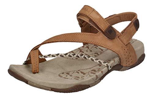 Merrell reduziert - Damen Sandalen Siena II Light Brown, Größe:42 EU