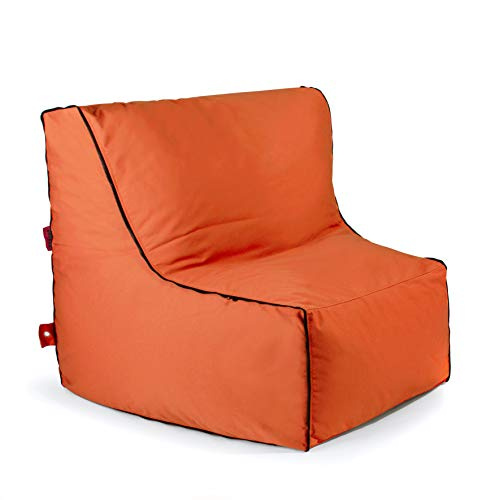 Outbag Piece Zipper Outdoorsitzsack, Orange