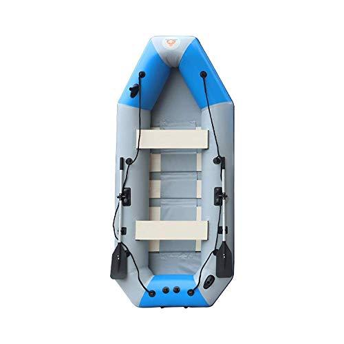SHKUU Kayak Inflable 3 Personas 300 kg Capacidad Carga Bote Inflable Verde con remos Aluminio Bomba Bote Pesca 230x130x46cm Kayak