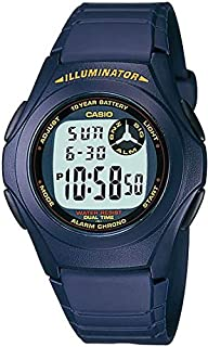 Casio Resin Band Round Watch For Boys