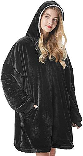 KISSAI The Original Sherpa - Sudadera con capucha de gran tamaño con bolsillo frontal grande, suave, acogedora y cálida