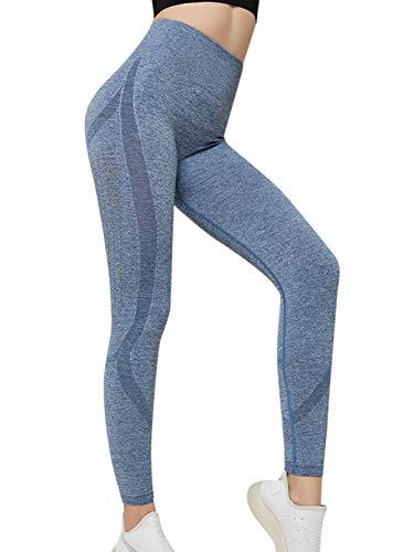 Voqeen Mujer Pantalones De Yoga Deportivos Leggings Alta Cintura Adelgazantes Elásticos y Transpirable secado rápido Fitness Jogging Leggins
