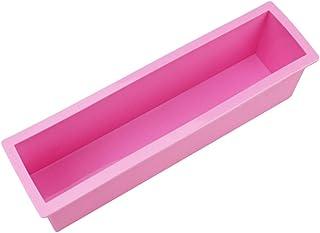 Yardwe 石鹸ケーキミートローフ用品のための柔軟な長方形のシリコンソープモールドロープ(ランダムカラー)サイズL