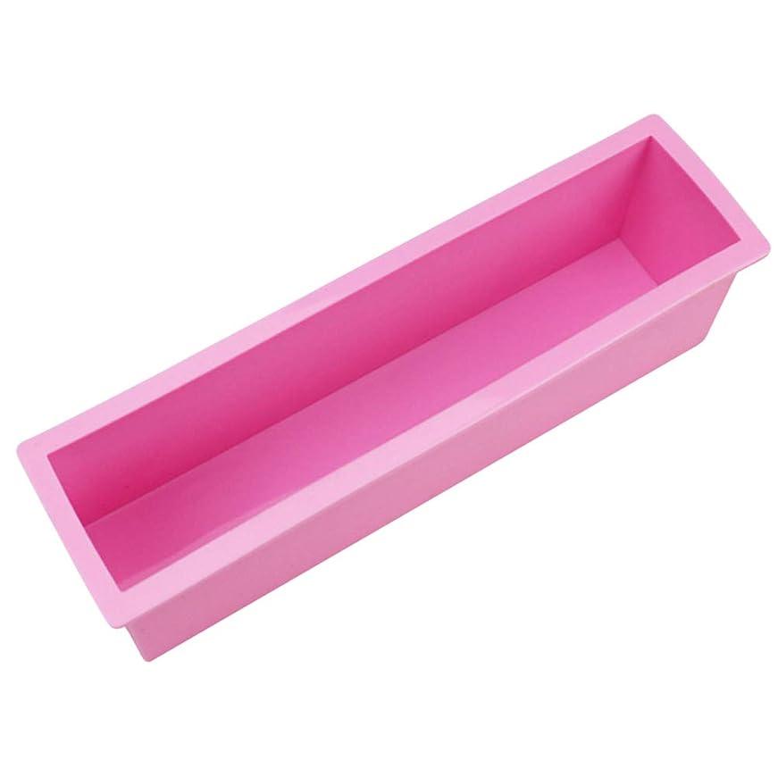 しかしながら道徳憂鬱なYardwe 石鹸ケーキミートローフ用品のための柔軟な長方形のシリコンソープモールドロープ(ランダムカラー)サイズL