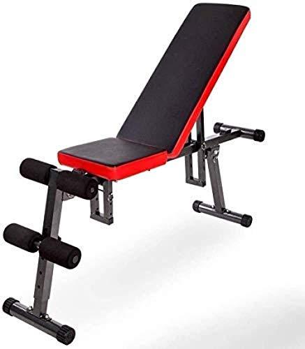 mjj Banco de pesas ajustable, dispositivo multifunción para la tabla de espalda, para ejercicios de abdominales, para el hogar, ejercicios de pájaros, tabla abdominal plegable