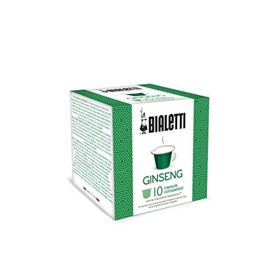 Bialetti Compatibili Nespresso Ginseng, 9 Confezioni da 10 capsule (90 Capsule)
