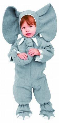 Foxxeo Elefantenkostüm für Kleinkinder grau Elefanten Kostüm für Kinder Größe 110-116