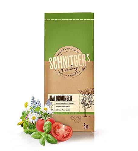 Naturdünger – Universal Pflanzendünger in Bio-Qualität – Langzeitdünger für nachhaltig gesundes Pflanzenwachstum – auch als Bodenaktivator – Dünger von SCHNITGER's – 5kg