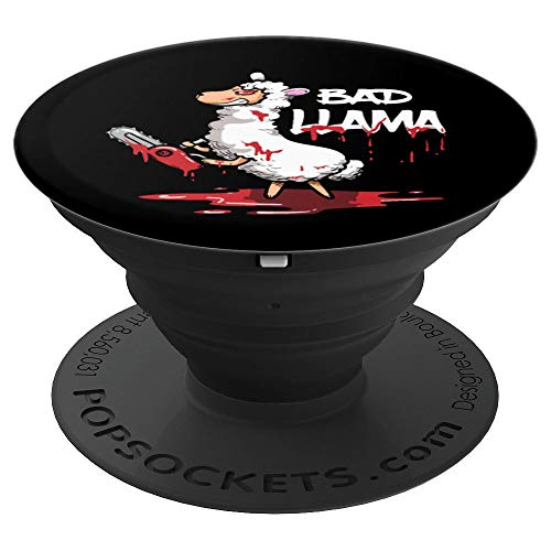 Funny Horror Llama Halloween Gift Evil Bad Llama PopSockets Grip and Stand for Phones and Tablets