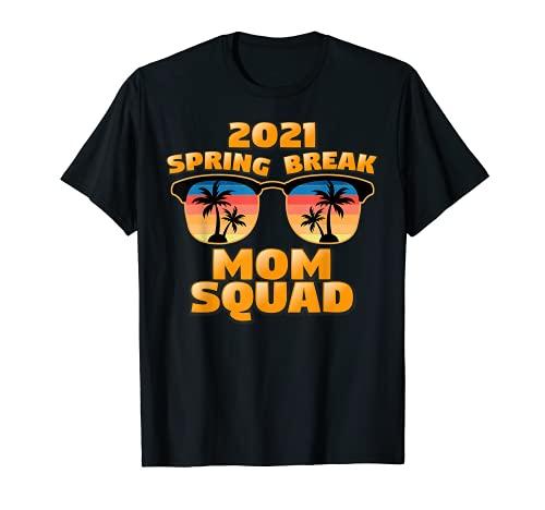 Spring Break Squad 2021 Retro Vintage Gafas a juego Camiseta