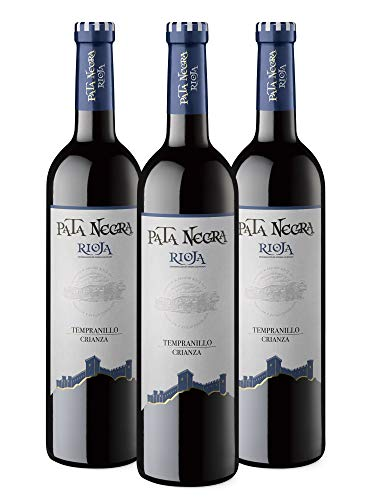 Pata Negra Crianza Vino Tinto D.O. Rioja - Pack de 3 Botellas x 750 ml