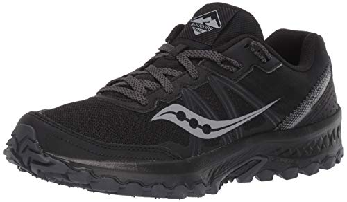 Saucony Women's Excursion TR14 Trail Running Shoe, Black/Charcoal, 9 Wide