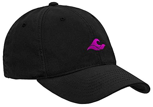 Koloa Unisex Soft & Cozy Low Profile Cotton Dad Hat-Black/Pink