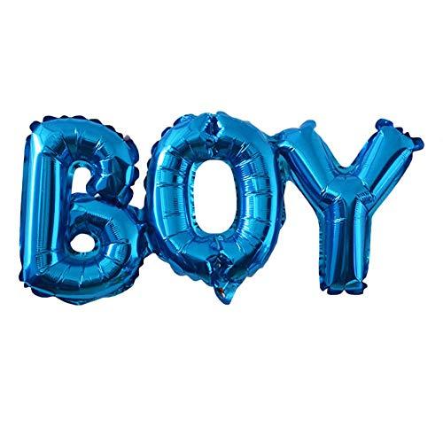WZRQQ Ballon baby shower ballonnen blauw roze jongens meisjes folieballonnen kinderen geslacht openbare eerste 1 Verjaardagsfeest kinderen feestdecoraties leveringen