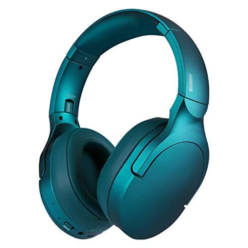 HBR Auriculares Auriculares con Exceso de Oreja con Bajos Profundos, Bluetooth y Auriculares estéreo cableados en Mic para teléfono Celular, TV, PC (Negro/conversación Verde) (Color : Talk Green)