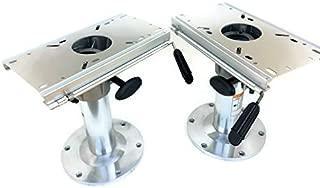 sport master TWO-Adjustable-Aluminum-Marine-Swival-Boat-Seat-Pedestal-13-034-18-034-High-W-Slide