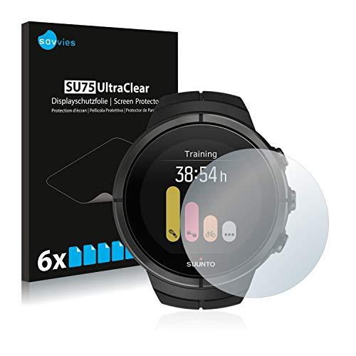 savvies 6-Pezzi Pellicola Protettiva Compatibile con Suunto Spartan Ultra Protezione Schermo Trasparente