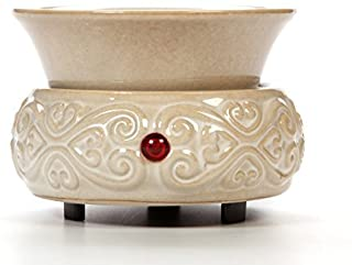 Hosley Cream Ceramic Electric Wax Warmer Ideal for Spa and Aromatherapy Use Brand Wax..