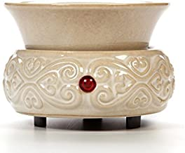 Hosley's Cream Ceramic Electric Fragrance Candle Wax Warmer. Ideal for Spa and..