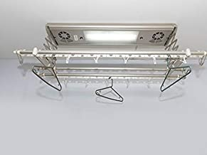 Cosmic Space solutions Remote Controlled Ceiling / Roof Mounted Automatic Cloth Drying Rack with Horizontal Fan and UV Light
