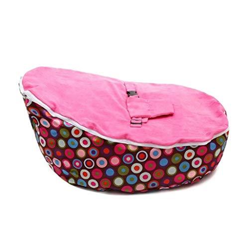 JJZXD Bolsa de Frijol de Silla de bebé Suave (sin Acolchado) Colcha para sofá bebé con cinturón de Seguridad (Color : A)