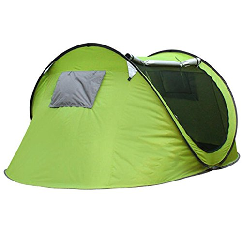 Gaojuan 3-4 Person Dome Tent - Pop Up Camping Tents Best For Outdoor Camp And Backpacking - Lightweight, Anti-UV, Easy Folding Automatic Tents Camping Camping Field Beach Tents (Color : A)