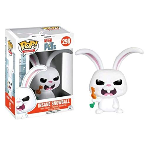 Funko Pop Movies : The Secret Life of Pets - Insane Snowball 3.75inch Vinyl Gift for Cartoon Fans SuperCollection