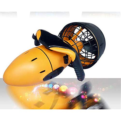 ZUEN Scooter de Agua Propulsor de Agua Motor de 300 vatios Fuertes 30 M Profundidad máxima de Buceo Deportes acuáticos Equipo Sumergible,Yellow