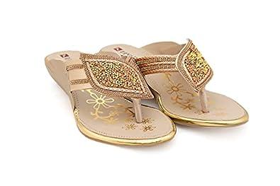 Divain Womens Floater Fashion Slippers (Art_501)
