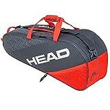 HEAD Unisex-Erwachsene Elite 6R Combi Tennistasche, grau/orange