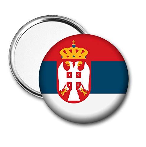 Servië Vlag Pocket Spiegel voor Handtas - Handtas - Cadeau - Verjaardag - Kerstmis - Stocking Filler - Secret Santa