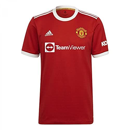 Adidas - MANCHESTER UNITED Temporada 2021/22, Camiseta, Primera Equipación, Equipación de Juego, Hombre