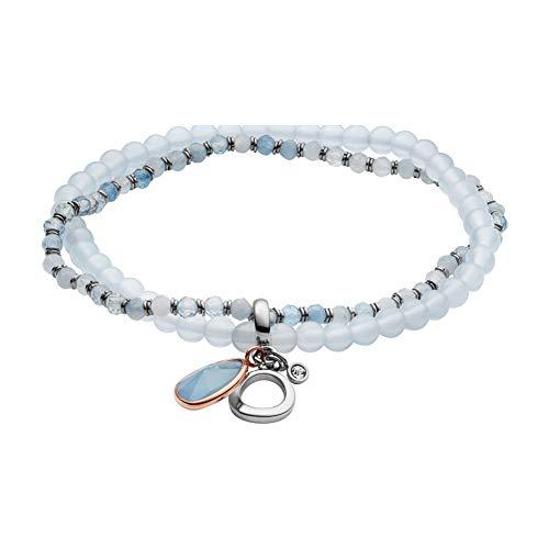 Fossil Women's Strand Bracelets Stainless Steel Aquamarine JF03074998