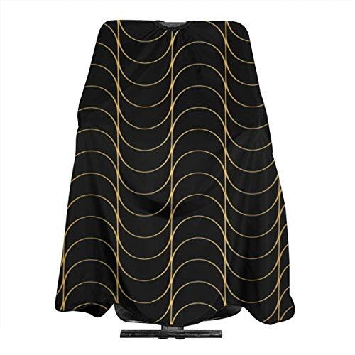 Art-Deco-Muster, nahtlos, schwarz und gold, Salon-Umhang, Haarschnittschürze, extra groß, 140 x 168 cm