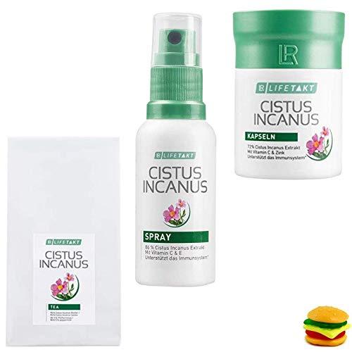 LR Set: Cistus Incanus Kapseln + Cistus Incanus Spray + Cistus Incanus Tee + Gratis Trolli Burger
