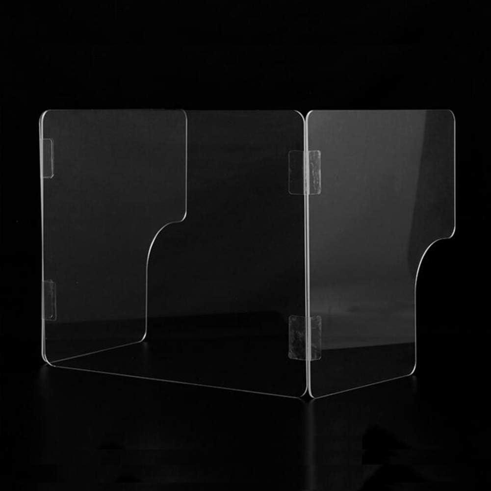 ACXZ Folding Max 70% OFF Desk Sneeze Guard Counter Elegant Shiel Protective U-Shaped