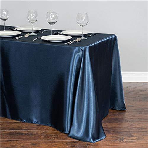 WJDHSG tafelkleed Wit Satijn Tafelkleed 140cmx250cm Rechthoek Tafelhoes WholeSale Tafelkleden Voor Bruiloft Event Party Hotel Decoratie