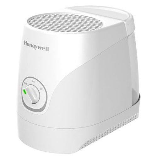 Honeywell Cool Moisture Humidifier White Ultra Quiet with Auto Shut-Off, Variable Settings & Wicking Filter for Small to Medium Rooms, Bedroom, Baby Room