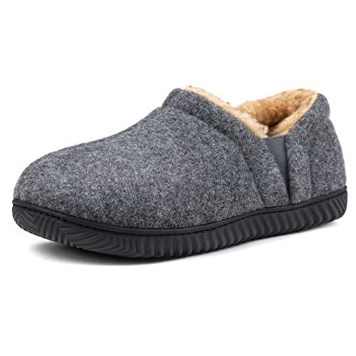 Zizor Men's Cozy Memory Foam Slippers with Fleece Lining, Anti-Slip Indoor...