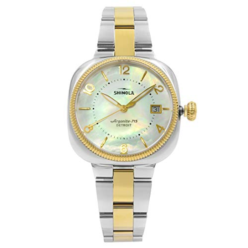 Shinola Gomelsky S0120001103 White Mother of Pearl Steel Two Tone Ladies Watch