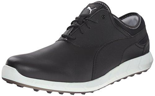PUMA Men's Ignite Spikeless Golf Shoe, White/Surf The Web/G, 11.5 M US